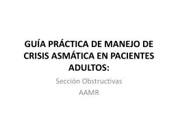 guía práctica de manejo de crisis asmática en pacientes