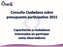 Presentación Observadores - Instituto Electoral del Distrito Federal