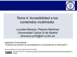 Tema 4: Accesibilidad a los contenidos multimedia