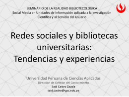RedesocialesSaidCast... - Repositorio Académico UPC