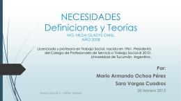necesidades - Maestría en trabajo social