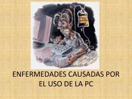 ENFERMEDADES CAUSADAS POR EL USO DE LA PC (289,4