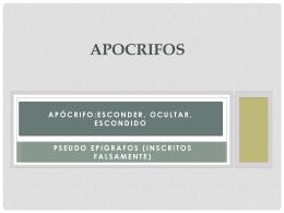 5. apocrifos - Iglesia Cristiana La Serena