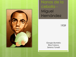 Nanas de la cebolla - Miguel Hernández
