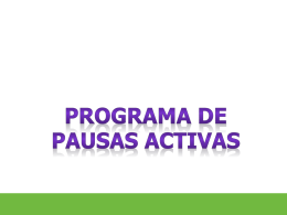 pausas activas - WordPress.com