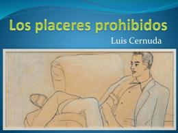 Los placeres prohibidos y Luis Cernuda