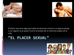 El placer sexual