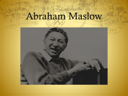 Abraham Maslow - WordPress.com