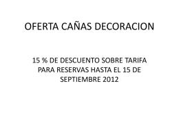 OFERTA CAÑAS DECORACION
