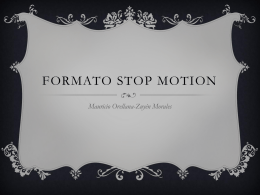 Formato Stop Motion