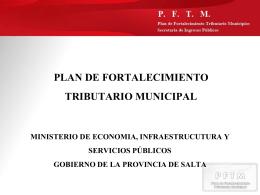 PLAN DE FORTALECIMIENTO TRIBUTARIO MUNICIPAL