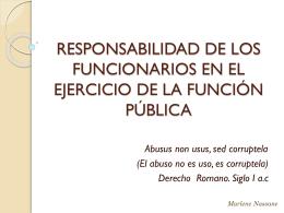 RESPONSABILIDAD DE LOS FUNCIONARIOS EN EL