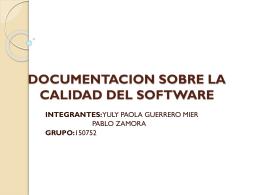 Documentación de la Calidad del Software (nueva ventana)