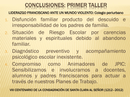 Conclusiones del I Taller Liderazgo.