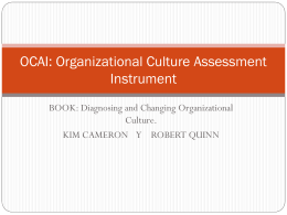 OCAI: Organizational Culture Assessment Instrument