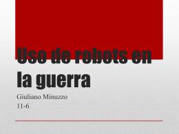 Uso de robots en la guerra
