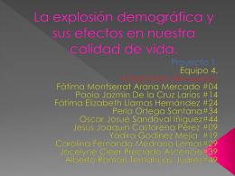 La explosión demográfica y sus efectos en nuestra calidad de vida.