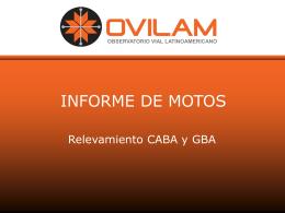INFORME DE MOTOS - Relevamiento CABA y GBA