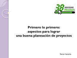 Planeación. - Revista Plenitud AA