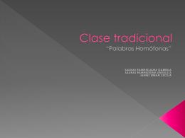 Clase tradicional - las-tic-primaria