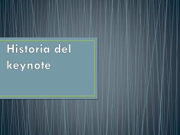 Historia del keynote