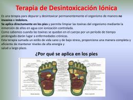 La Terapia de Desintoxicación Iónica