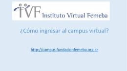 Acceso al campus virtual - Instituto Virtual Femeba
