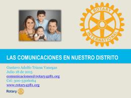 Comunicaciones en el Distrito 4281