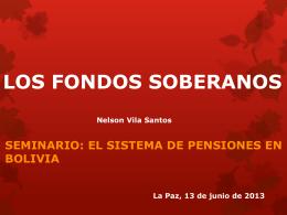 LOS FONDOS SOBERANOS