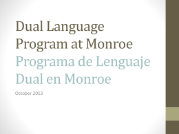 Dual Language Program at Monroe