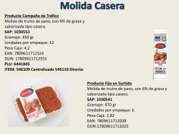Molida Casera