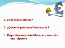 1. ¿Qué es la Hipoteca? - Administración y F.OL.