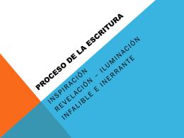 3.proceso de la escritura - Iglesia Cristiana La Serena