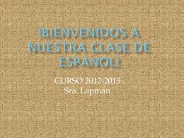 !BIENVENIDOS A TU CLASE DE ESPANOL!