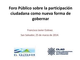 participación ciudadana en la gestión pública