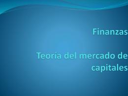 Teoria del mercado de capitales