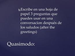 Quasimodo: