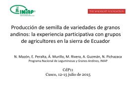 Sistemas mixtos de producción de semilla de granos