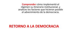 retorno a la democracia. 3mb