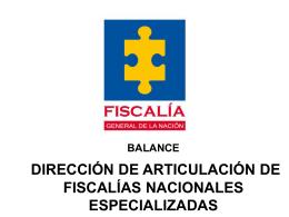 Presentación Directora Nacional de Articulación de Fiscalías
