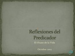 Reflexiones del Predicador