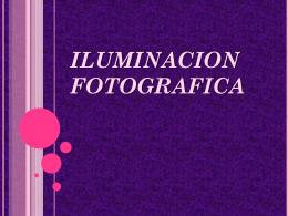 ILUMINACION FOTOGRAFICA