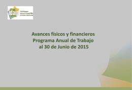 Avances Programa Anual de Trabajo 2015 (PAT).