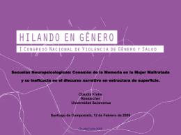 hilandoengenero2009 - Neuropsicologiaonline