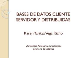 BASES DE DATOS CLIENTE SERVIDOR