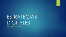 ESTRATEGÍAS DIGITALES