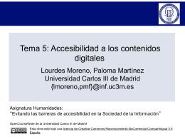 TEMA 4: ACCESIBILIDAD A LOS CONTENIDOS DIGITALES