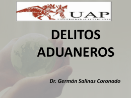DELITOS ADUANEROS - German Salinas