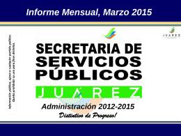 Marzo 2015 - Juárez, NL