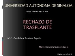 Rechazo Trasplantes - Facultad de Medicina